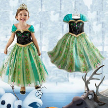Disney Frozen dress Baby Children Princess Christmas Costume Kids Halloween Carnival Party Role-play Perform Girls Clothes(China)