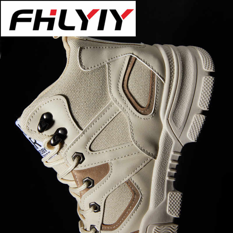 8c77fa692e ... FHLYIY PU Men'S Shoes High Heel Shoes Sports Casual Shoes Leather  Classic Lace Up Ankle Boots ...