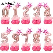 c3e66bb41e10f4 Wesołych świąt bożego narodzenia 1 2 3 4 5 6 7 8 9 różowe złoto balony