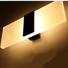 1X New Arrival Simple Creative Acrylic Wall Led Lamp designed for bedroom Led Light White Warm