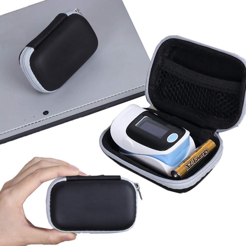 Hard EVA Travel Oximeter Protecive Case Bag Portable Zipper Carry Pouch Box For Fingertip Pulse Oximeter Storage Bag