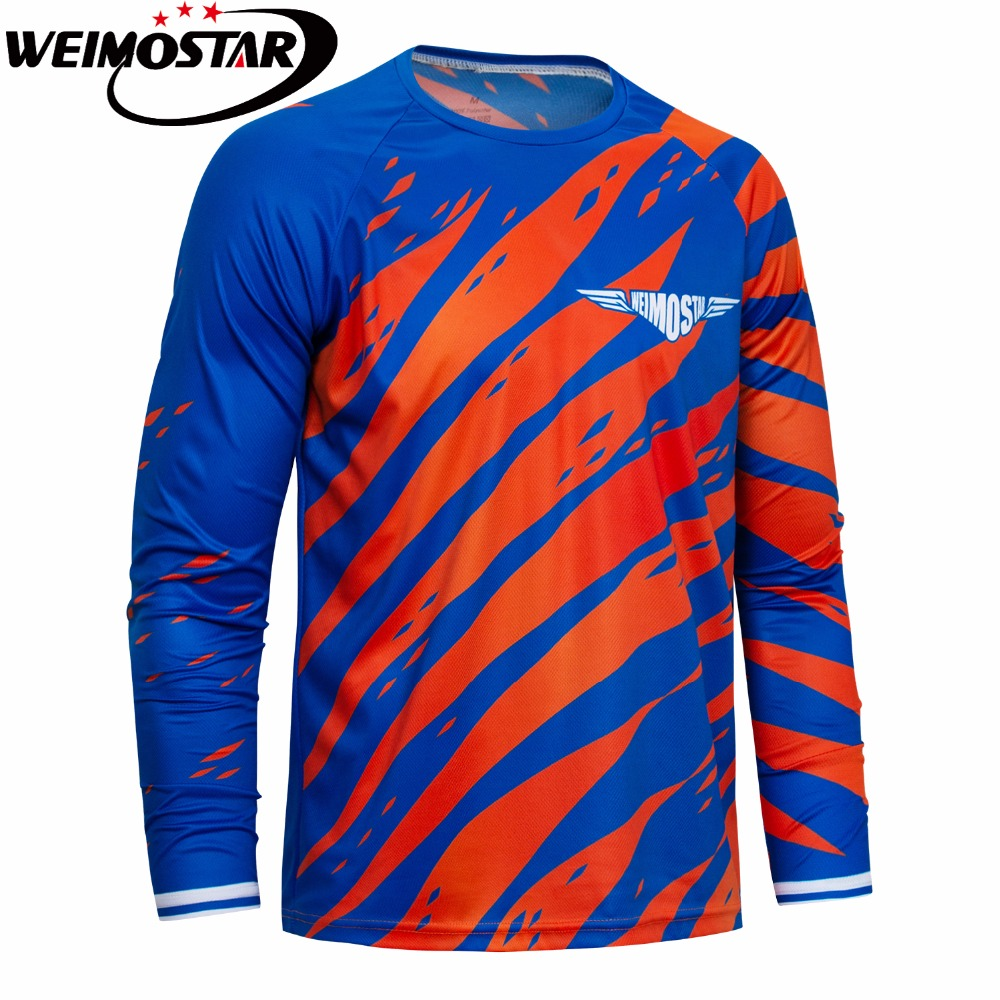 2018 Weimostar Downhill Cycling Jersey Shirt Tops Long Sleeve Mtb DH Racing Ropa ciclismo breathable Bicycle Jersey Wear Riding