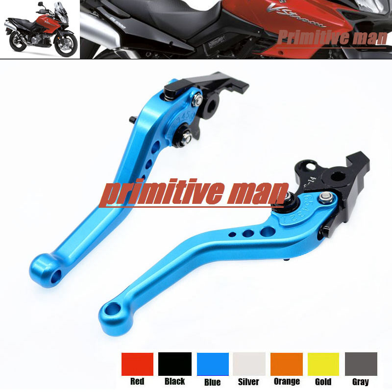 For SUZUKI TL1000R SV1000/S DL1000/V-STROM Motorcycle Accessories Aluminum short Brake Clutch Levers Blue 1000