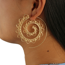 VAROLEV Swirl Heart Earrings Gypsy Tribal Ethnic Earrings Boho Earrings for Women Jewelry 4198