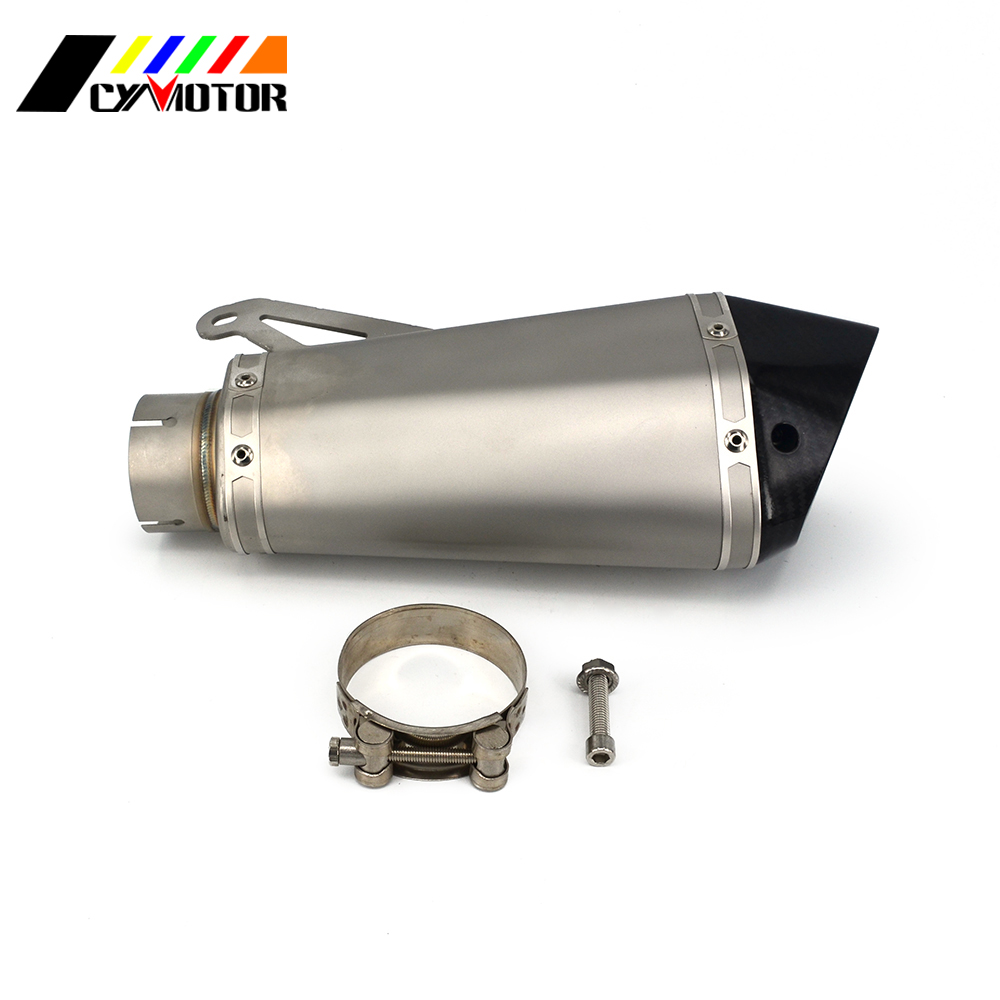 61MM Motorcycle Scooter Titanium Exhaust Pipe Escape For BMW S1000 2010 2011 2012 2013 2014