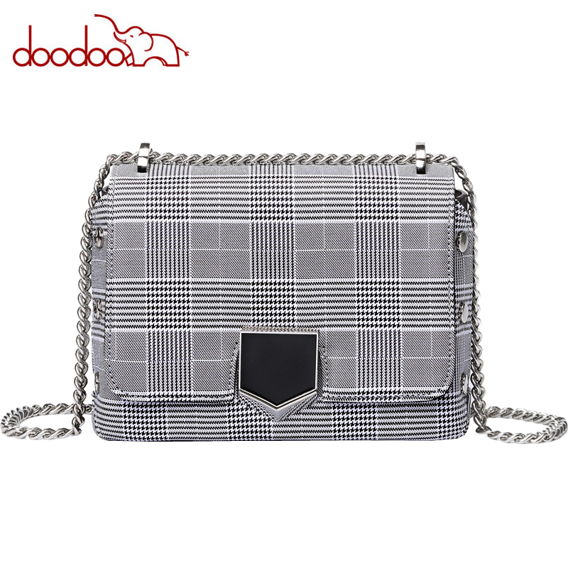 Designer Handbags High Quality Chain Casual Messenger Bags Houndstooth Design Womens Bag Lattice Fashion Shoulder Bags Louis Bag chain houndstooth print crossbody bag