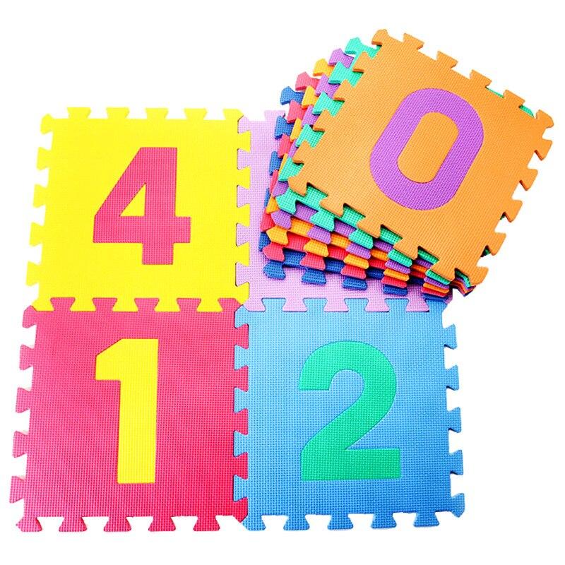 9 pièces/ensemble bébé tapis de jeu EVA mousse Alphabet lettres nombre tapis de sol 3D Puzzles jouets éducatifs pour enfant ramper tapis de Puzzle