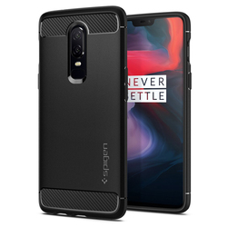 100% Original SPIGEN OnePlus 6 Case Rugged Armor Black K06CS23358