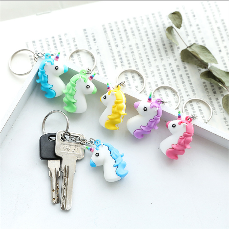 Childrens Wedding Gifts: 5pc Unicorn Mini Car Keychain Unicorn Party Favor Birthday