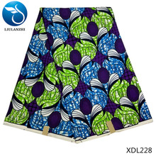 LIULANZHI african wax fabric 2018 New arrival Real 100%Polyester ankara for dress 6yards/lot XDL220-XDL233