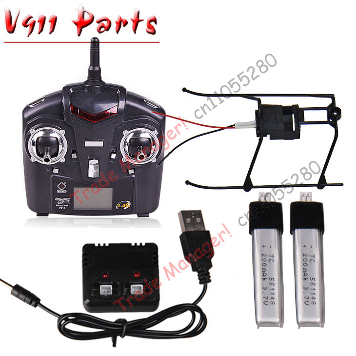 Free shipping WL V911 battery +  the remote Accessories for WL V911 RC Helicopter parts Accessorie wltoys wl r6 left hand mode remote controller for v911 v911 1 v911 2 v912 v913 black