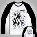 Рубашка Мужчины Винтажном Стиле Аниме футболки Классический Наруто Какаши 3D футболка с длинным рукавом Hipster Майки Топы