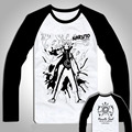 Shirt Men Vintage Style Anime t shirts Classic Naruto Kakashi 3D long sleeve t shirt Hipster Tees Tops