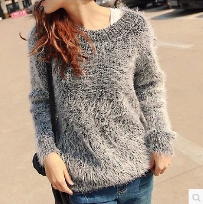 Spring Autumn Sweaters 2018 new arrival hot sale O-neck long sleeve candy color women clothing solid loose mohair pullovers 4036