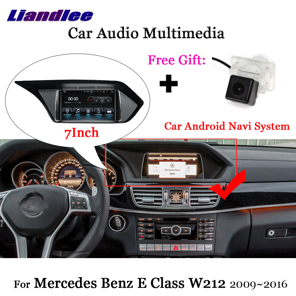 Liandlee voiture Android 7.1 pour Mercedes Benz classe E W212 S212 2009 ~ 2016 Radio Carplay Camer TV GPS Navi carte Navigation multimédia