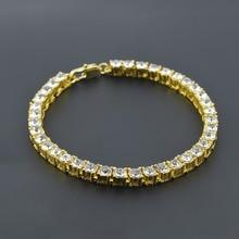 3 Color Hip hop men boys bracelet one row CZ imitated zirconia punk style bracelet bangle classic jewelry wholesale