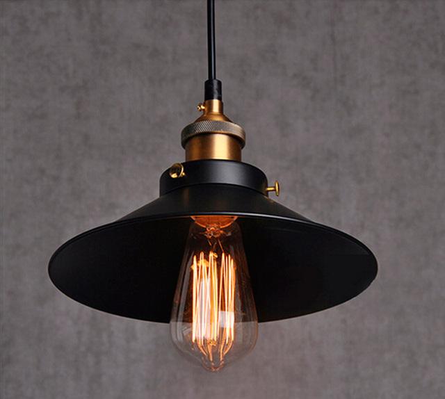 RH Loft Armazém Industrial Luzes Pingente Lâmpadas País da América Do Vintage Iluminação para Restaurante/Quarto Decoração de Casa Preto