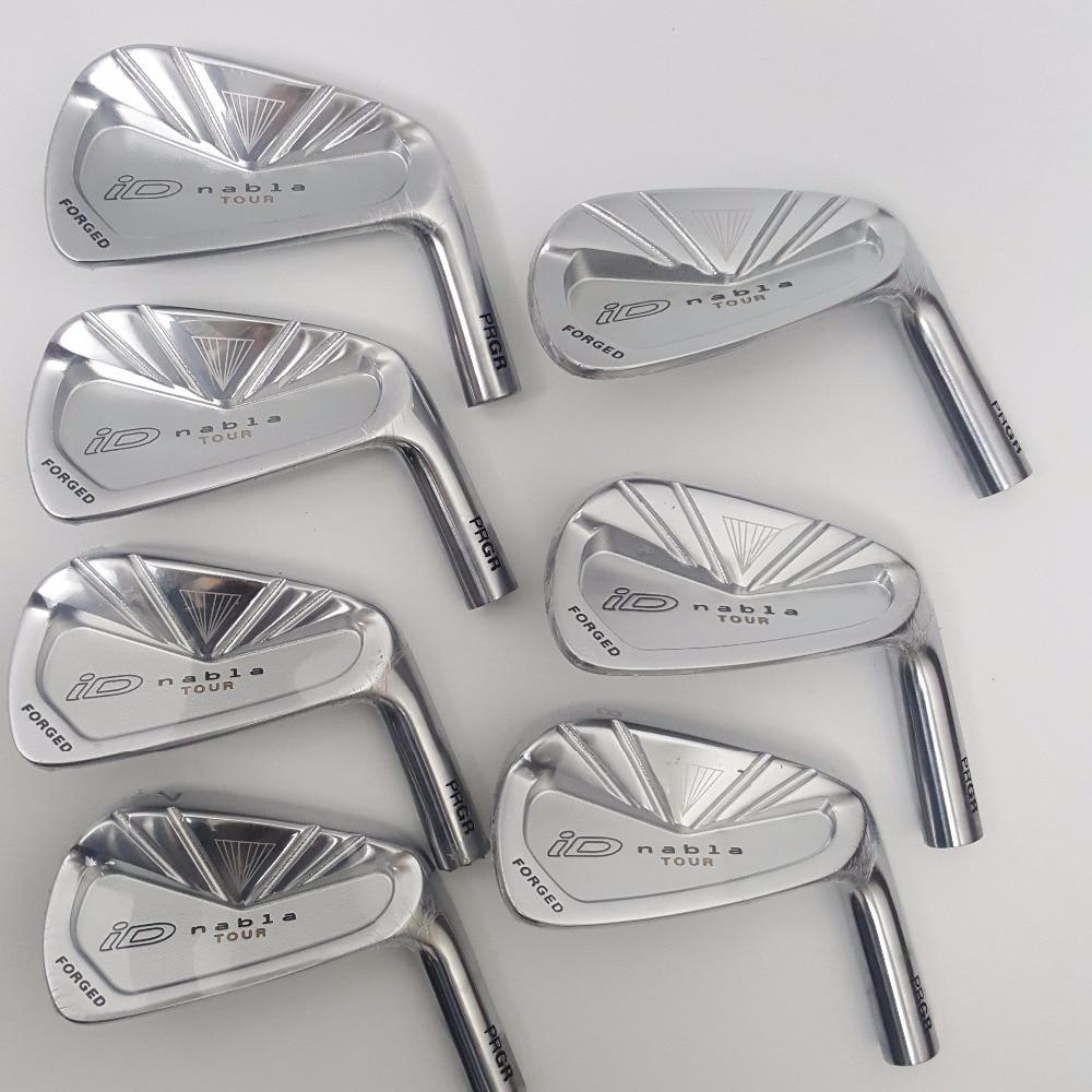 Golf Clubs Brand New The new golf PRGR ID NABLA TOUR iron rod head 4 - P Graphite R/ S flex Set 4-9P(7pcs)
