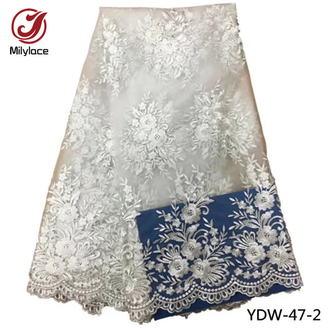 Bridal lace fabric wholesale nigerian tissue lace fabric high quality  african french tulle lace fabric for 3b5dba0e02be