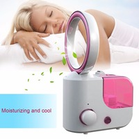 Portable Desk Air Purifier Humidifier Fan Bladeless Tablet Fan Cooling Fan Home Office Air Cleaner Cooler