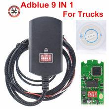 Adblue 9 da microplaqueta completa em 1 atualização adblue 8 em 1 8in1 para 9 caminhões emulador azul do anúncio para caminhões resistentes