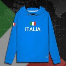 Sudadera con capucha italiana para hombre, ropa deportiva, chándal con bandera de la nación