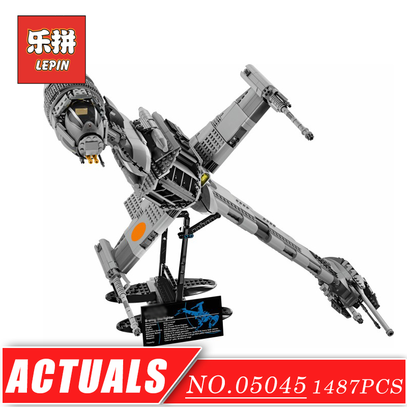 LEPIN 05045 Stars Series War Fighter Wing Alien Ship Attack DIY Model Building Kits Blocks Bricks Children Toys Christmas Gift lepin 22001 pirates series the imperial war ship model building kits blocks bricks toys gifts for kids 1717pcs compatible 10210