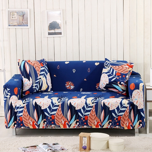 Universal Tropical Flowers Stretch Sofa Covers For Living Room Couch  Loveseat Seat Sofa Covers Elastic Sectional