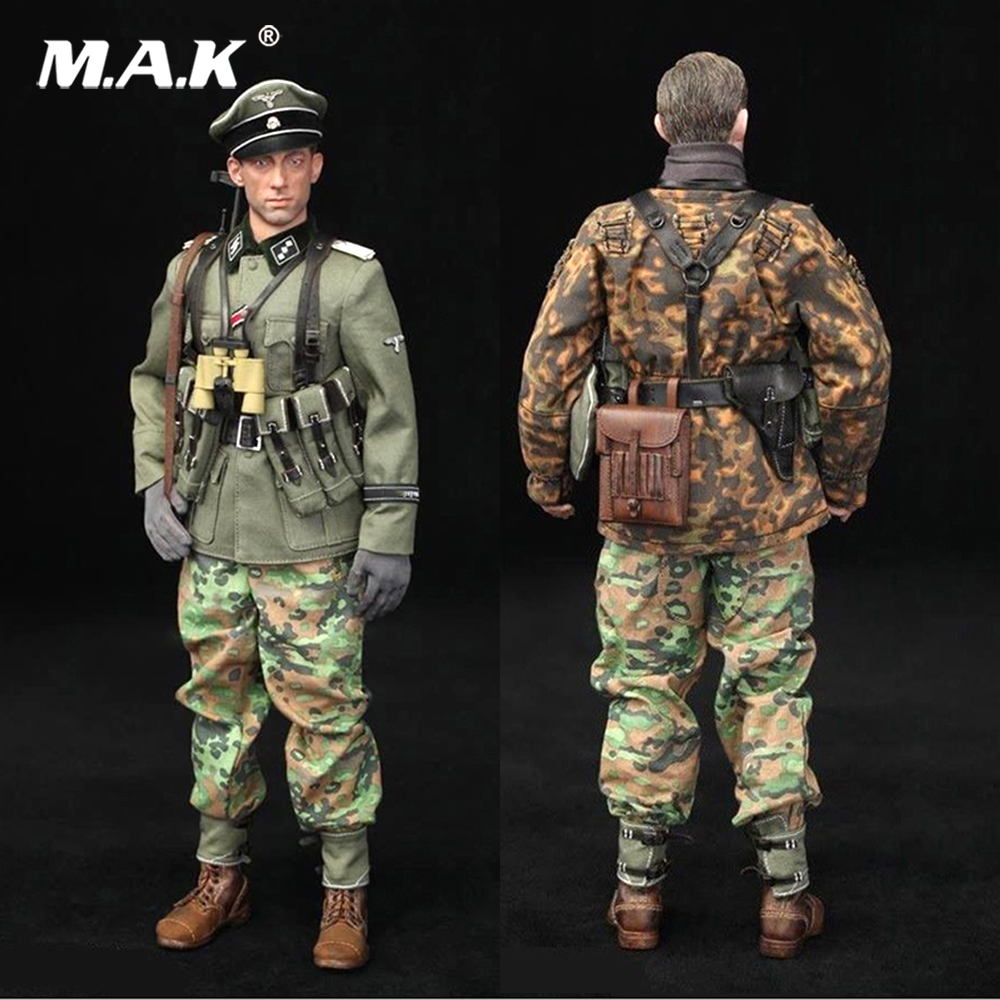 Full set 1/6 German WWII Solider Armored Division Uniform Panzer Division Rainer Action Figure wounded wersion for collection цена