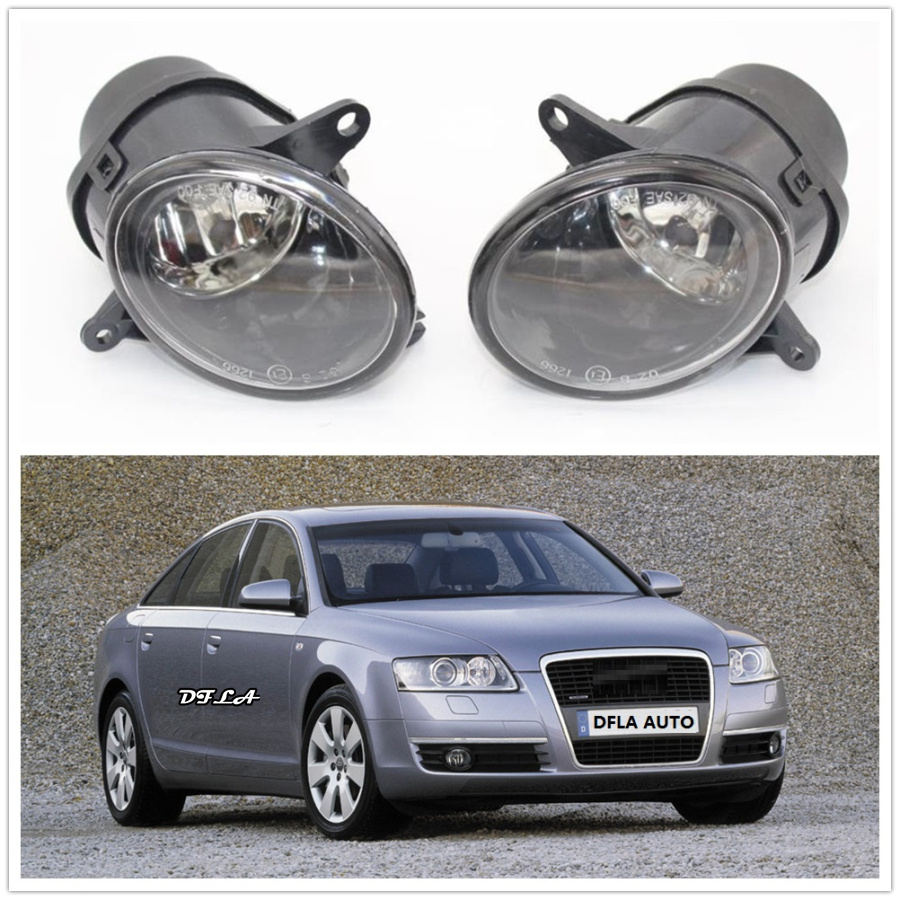 2Pcs For Audi A6 C6 2001 2002 2003 2004 2005 Car-styling Front Halogen Fog Light Fog Lamp Assembly With Bulbs2Pcs For Audi A6 C6 2001 2002 2003 2004 2005 Car-styling Front Halogen Fog Light Fog Lamp Assembly With Bulbs