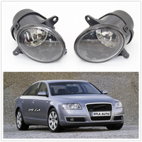 2Pcs For Audi A6 C6 2001 2002 2003 2004 2005 Car styling Front Halogen Fog Light Fog Lamp Assembly With Bulbs