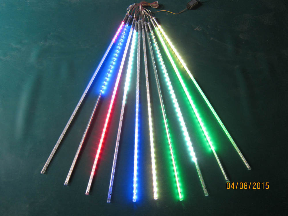 5 ensembles/lot LED SMD2835 72 LED s Double face LED pluie de météorites lumière Tube de LED 12*800mm10 pièces/ensemble