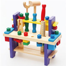 Montessori Wooden Tooling Toys Baby Preted Play Screw and Nut Assembly Toys Creative Educational Toys for Children Gifts(China)