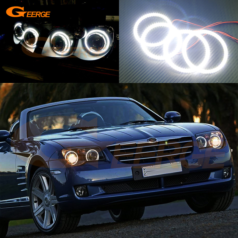 For Chrysler Crossfire 2004 2005 2006 2007 2008 Excellent Ultra bright illumination smd led Angel Eyes Halo Ring kit