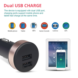 Image 3 - 5V 2.1A ユニバーサル 2 ポート Usb シガーライター電圧計充電器液晶ディスプレイ車の充電器電源アダプタスマートフォン用タブレット