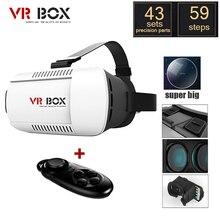 2017 VR BOX VR Glasses Virtual Reality 3D 1.0 2.0 3.0 Pro Google Cardboard + Bluetooth Wireless Gamepad VR Helmet Russian Stock