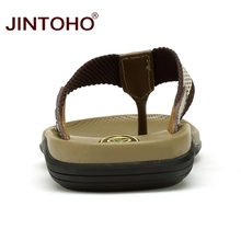 JINTOHO Big Size Men Slippers High Quality Genuine Leather Male Slippers