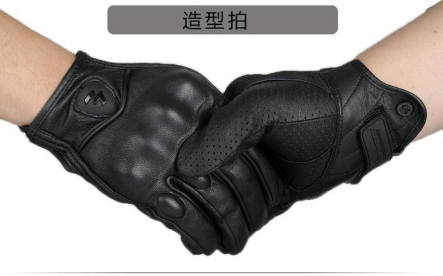 Hot SALE Full Finger Motorcycle Gloves Guantes Moto Verano Motocross Leather Glove de moto para hombres bike racing riding 4