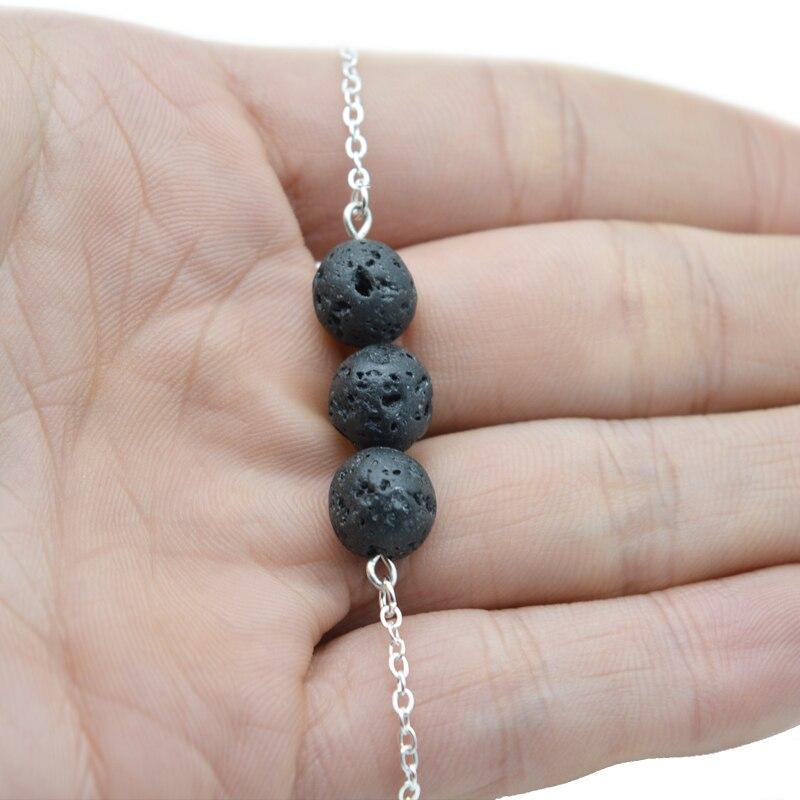 5pcs Charm Lava Beads Bracelets Essential Oil Diffuser Bracelets