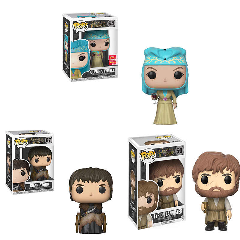 FUNKO POP GAME OF THRONES BRAN STARK OLENNA TYRELL TYRIO Vinyl Action Figure Collection Modello Giocattoli per I Bambini regalo Di Compleanno