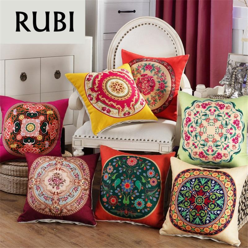 rubihome red decorative throw pillows cushions cover sofa home