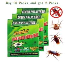 20 упаковок Зеленый лист порошок эффективное удаление тараканов приманка инсектицид репеллент тараканов убийца отпугиватель ловушка борьба с вредителями