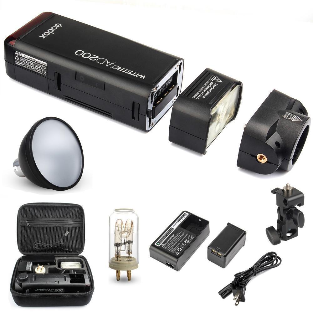 Godox AD200 2.4 г flash 1/8000 с ad s2 Стандартный Отражатели для Canon для Nikon для Sony