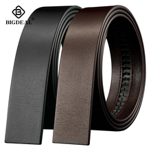 BIGDEAL No Buckle 3.5cm Wide Real male Genuine Leather Belt Without Automatic Buckle Strap Designer Belts leather belt men