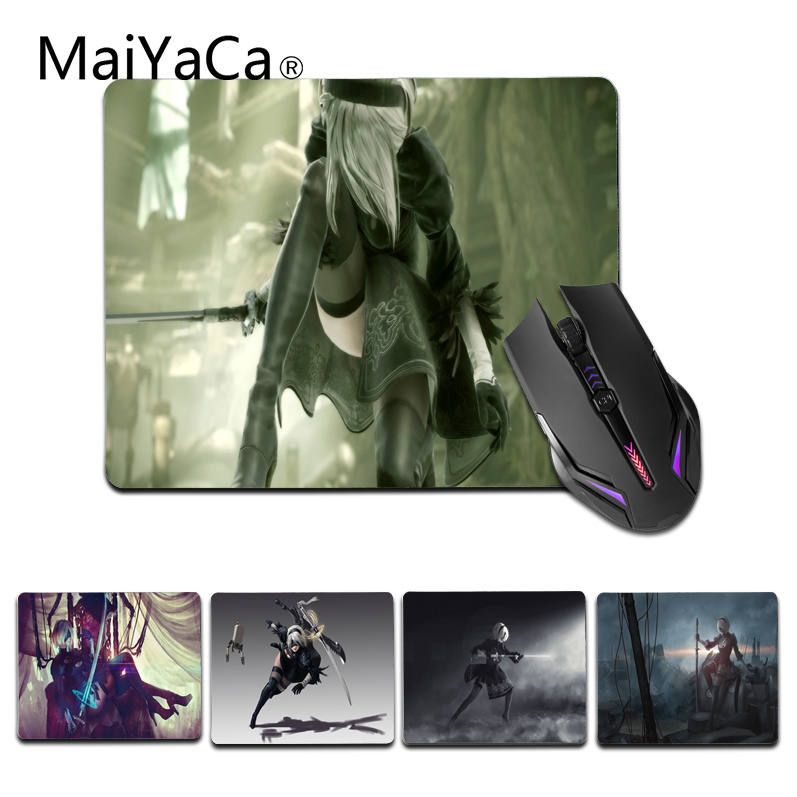 MaiYaCa Nier Automata Character Comfort small Mouse Mat Gaming Mouse pad Size for 25X29cm Rubber Mousepads