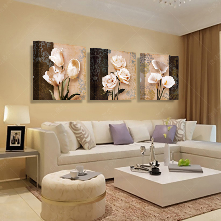 3 panel modern picture paintings wall pictures abstract - Decoracion con cuadros ...