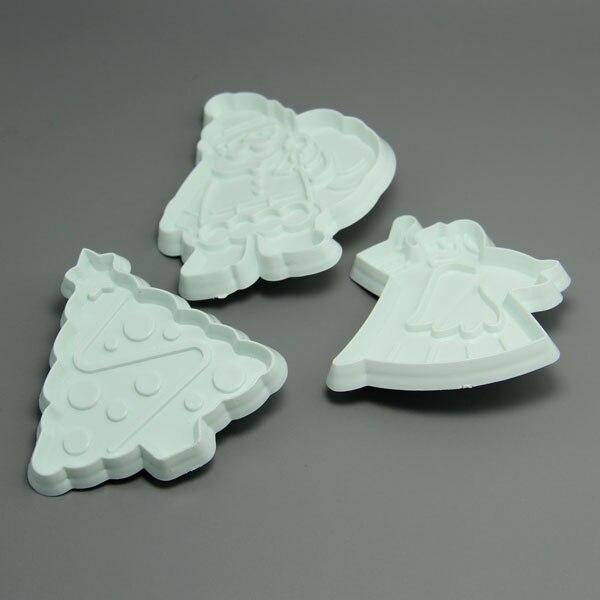 (36pac/Лот) FDA высокого качества Отец Рождество и рождественской елки Пресс резак набор для украшения торта
