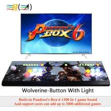 Pandora's box 6 1300 в 1 игровая консоль usb Джойстик Аркада кнопки со светом 2 игрока управление машина pandora box 6 HD