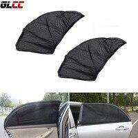 2pcs Set Universal Car Side Window Sun Shade Auto Mesh Sun Shield Block UV Rays Protector