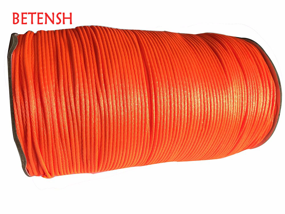 2mm Neon Tangerine Rattail Cetim Nylon Cord-350M/Rolo Acessórios Jóias Macrame Pulseira Corda Theard Cabo Beading